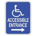 Disabled Accessible Entrance Right Sign