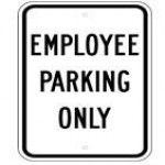 Traffic Sign EMPLOYEE PARKING ONLY