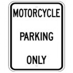 Motorcycle Parking Signs (1)