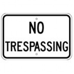 No Trespassing Signs (4)