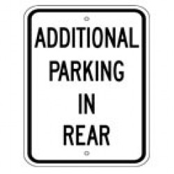 Parking In Rear Sign (1)