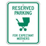 Traffic Sign RESERVED PARKING FOR EXPECTANT MOTHERS
