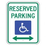 Disabled Reserved Parking Directional Sign